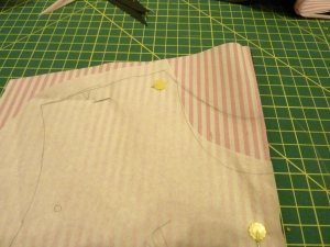 Altering dress add collar 2